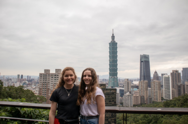 No need to queue up to go up Taipei 101 when you can just get a photo with it instead - amiright? (left)